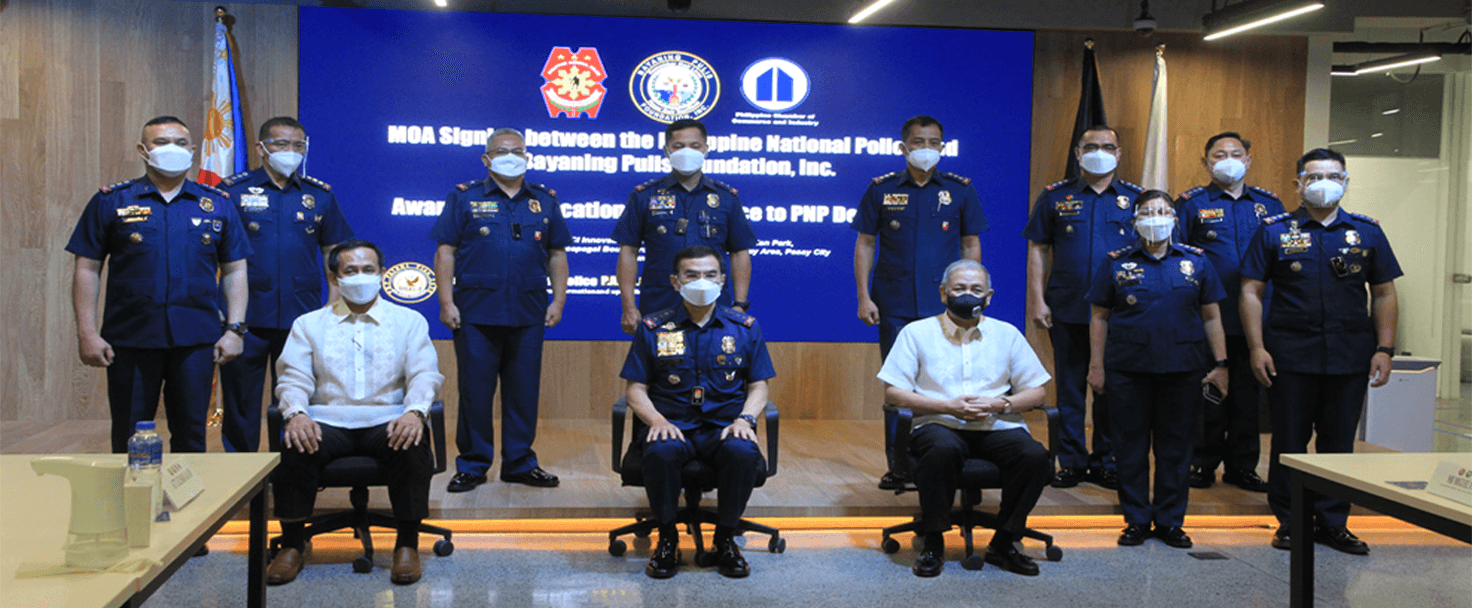 MOA Signing Between PNP and Bayaning Pulis Foundation Inc